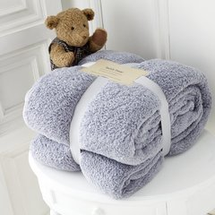 Teddy plain silver fleece throw