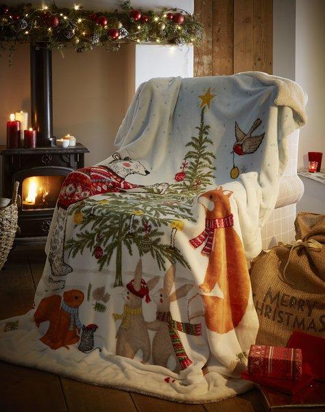 Night Before Christmas fleece throw / blanket