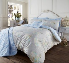 Love Bird grey natural duvet cover