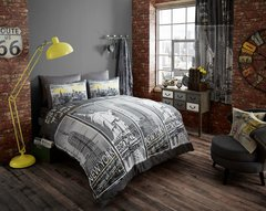 Inspire grey king size duvet cover