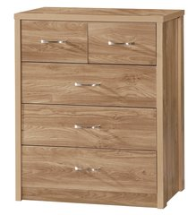 Holland oak effect chest of 3 + 2 drawers