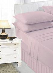 Pink frilled valance sheet
