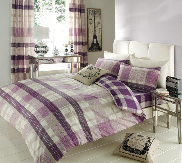 Venezia purple duvet cover