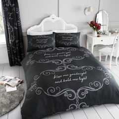 Goodnight charcoal duvet cover