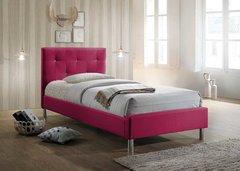 Eden diamante pink single fabric bed