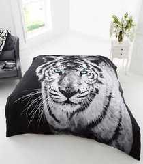 3D print White Tiger mink faux fur throw / blanket