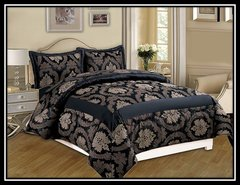 Black Betty 3 piece bedspread