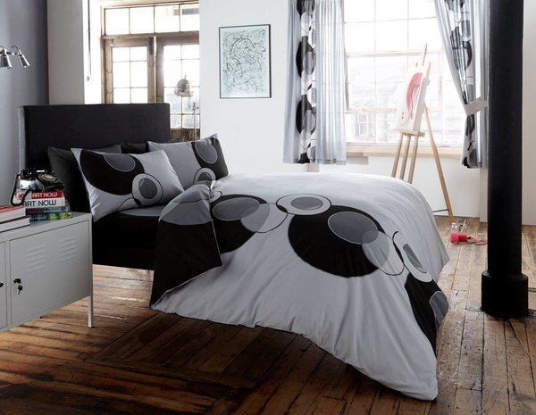Solo grey/black duvet cover