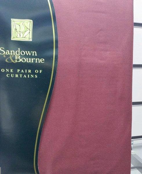 Aubergine tab top cotton canvas curtains