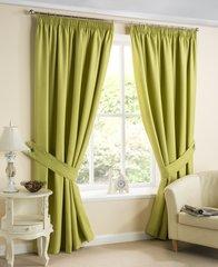 Brazil lime pencil pleat curtains