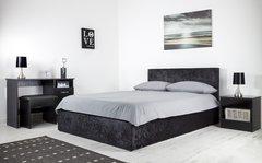 Boston black crushed velvet ottoman storage bed