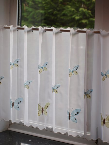 Butterfly ready made cafe curtain panel