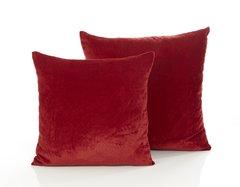 Oversized velvet red cushion cover