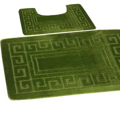 Fern Greek style 2 piece bath mat set