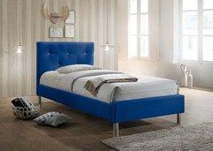 Eden diamante blue single fabric bed