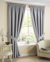 Brazil silver pencil pleat curtains