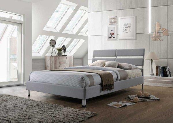 Eden grey fabric bed