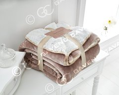 Flannel Sherpa fleece mink throw