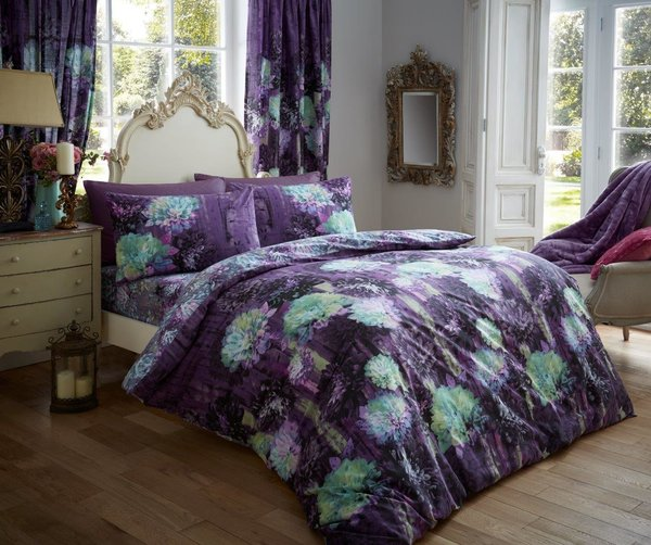 Prism purple duvet cover