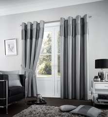 Fuel charcoal eyelet curtains
