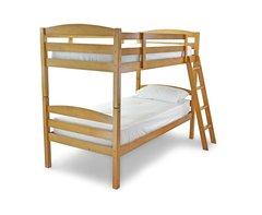 Rio antique pine single wooden bunk bed frame