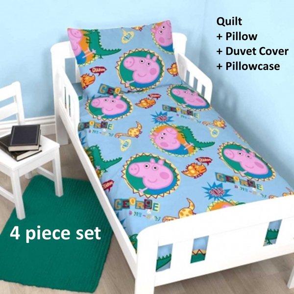 George Pig 4 piece junior cot bed bundle