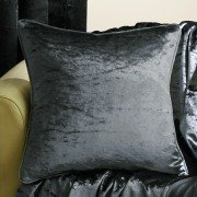 Velva crushed velvet graphite cushion cover