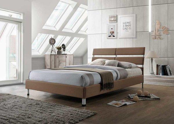 Eden brown fabric bed