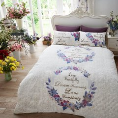 Live & Dream natural duvet cover