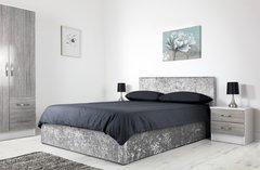 Boston grey crushed velvet ottoman storage bed