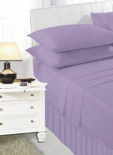 Lilac frilled valance sheet