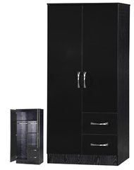 Marina black gloss 2 door combi wardrobe