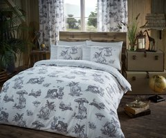 Safari grey duvet cover