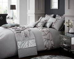 Vienna silver grey duvet cover