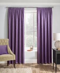 Matrix grape blockout pencil pleat curtains