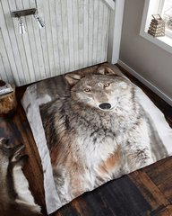 3D print Wolf mink faux fur throw / blanket
