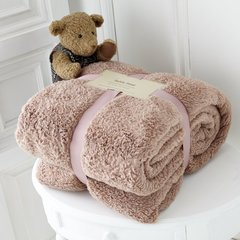 Teddy plain black mink throw
