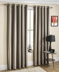 Henley silver eyelet curtains