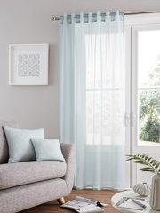 Bali voile duck egg tab top curtain panel