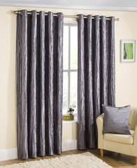 Coco silver eyelet curtains