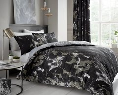Marble black duvet cover