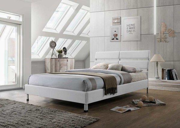 Eden white fabric bed