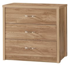 Holland oak effect chest of 3 drawers
