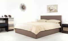 Boston brown fabric ottoman storage bed