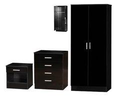 Galaxy black 3 piece bedroom furniture set
