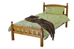 Flora antique pine wooden bed frame