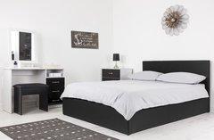 Boston black fabric ottoman storage bed