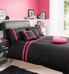 Roselle black & pink duvet cover