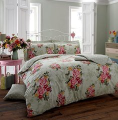 Ava mint duvet cover