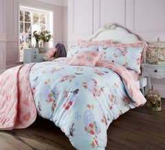 Love Bird turquoise duvet cover
